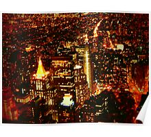 NYC Bright Lights Poster