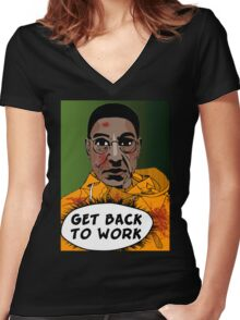 GET BACK TO WORK (Comic version) Women's Fitted V-Neck T-Shirt