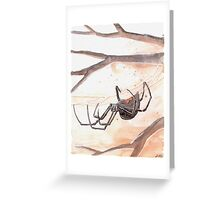 Black Widow Spider Watercolor Greeting Card