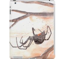 Black Widow Spider Watercolor iPad Case/Skin