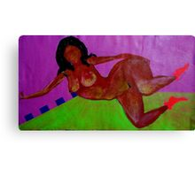 floating nude Canvas Print
