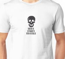 Here Comes Trouble Skull Cartoon Unisex T-Shirt
