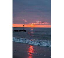 Twilight on a beach Photographic Print