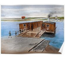 The Chain Ferry across the River Blyth Poster