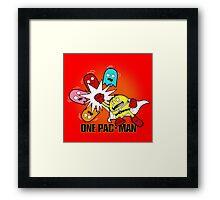 One Pac-Man  Framed Print