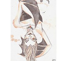 Batty Vampire Watercolor Painting Photographic Print