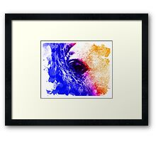 Abstract water color horse Framed Print