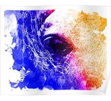 Abstract water color horse Poster