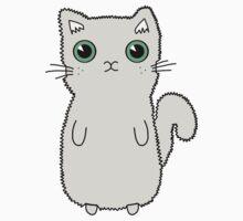 Light Grey Kitten With Large Cute Green Eyes by Gemma1995