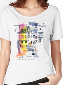Maisons Suspendu, Pont-en-Royans, France Women's Relaxed Fit T-Shirt