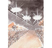 Rural UFO Visit Photographic Print