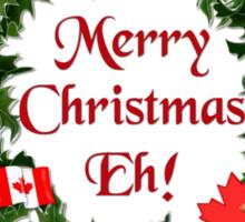 Canadian Mountie Beaver Christmas Eh! Sticker