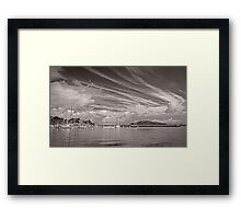 Spanish Boats and Clouds Framed Print