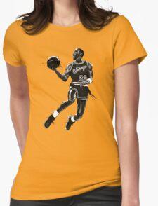 Liquid Michael Jordan Womens Fitted T-Shirt
