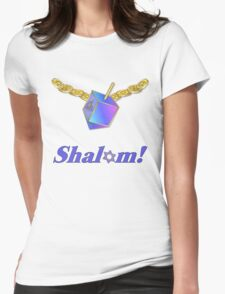 Shalom Gold Coins Hanukkah Womens Fitted T-Shirt