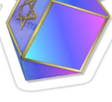 Shalom Gold Coins Hanukkah Sticker