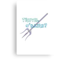 Truth or Dare? Canvas Print