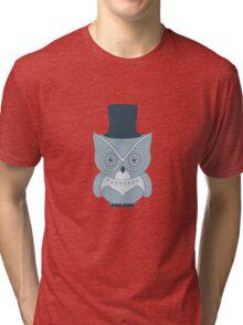 Little Vintage Tophat Owl Tri-blend T-Shirt