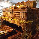 Model Pennsylvania Station, Model Trains, New York Botanical Garden Holiday Train Show, 2015, Bronx, New York by lenspiro