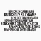benedict cumberbatch names by lauraschambers