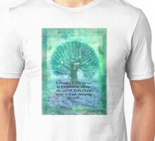 Rumi wisdom change quote  Unisex T-Shirt