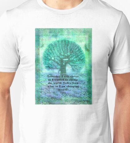 Rumi wisdom change quote  Unisex T-Shirt