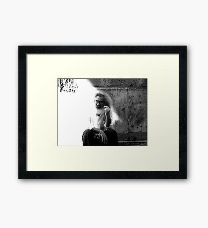 Einstein ? Framed Print