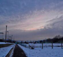 Dusk in wintertime by fodorpetya