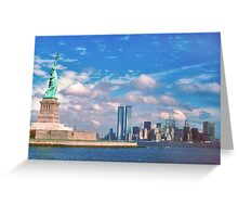 Statue of Liberty & World Trade Center 1976 Greeting Card