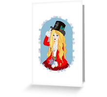 Christmas Top Hat Greeting Card