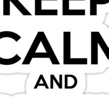 keep calm and drink coffee Sticker