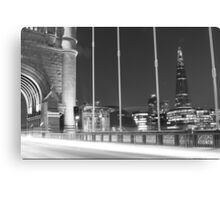 Tower Bridge Monochrome Canvas Print
