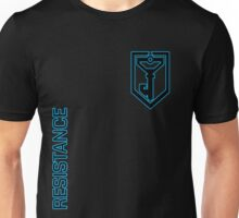 Ingress Resistance - Alt colors with text Unisex T-Shirt