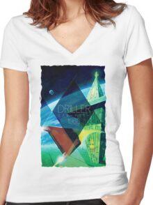 Driller Women's Fitted V-Neck T-Shirt