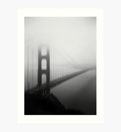 Golden Gate Bridge Black and White Tri-X and Holga Art Print