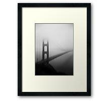 Golden Gate Bridge Black and White Tri-X and Holga Framed Print