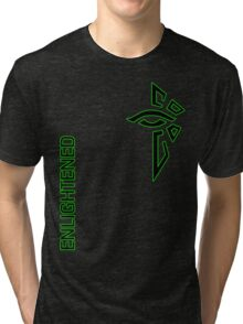 Ingress Enlightened with text Tri-blend T-Shirt