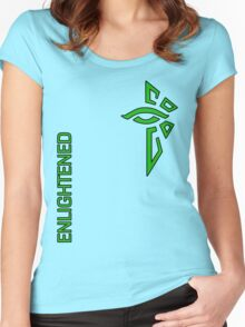 Ingress Enlightened with text - alt Women's Fitted Scoop T-Shirt