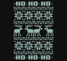 Ho Ho Ho 8-Bit Ugly Sweater Tiffany Pattern by RexLambo