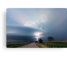 Sculptured storm near Broken Bow, Nebraska Canvas Print