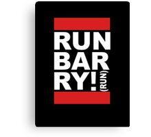 Run Barry, Run! (black) Canvas Print