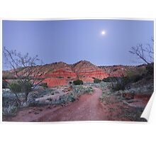 Twilight in Palo Duro Canyon, Texas Poster