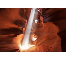 Daylight piercing into Antelope Canyon, Arizona Photographic Print