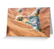 Martian Oasis Greeting Card