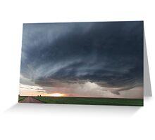 Mothership storm structure near Ness City, Kansas Greeting Card