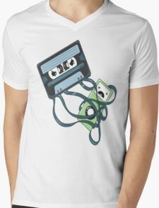 Cassettes Revenge shirt Mens V-Neck T-Shirt
