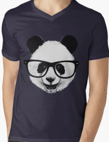Hipster Panda Mens V-Neck T-Shirt