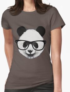 Hipster Panda Womens Fitted T-Shirt