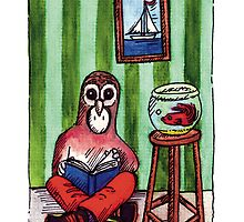 KMAY Hoodkid Owl Reading by Katherine May