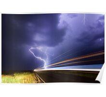 Midsummer lightning near Ruthven, NSW Poster